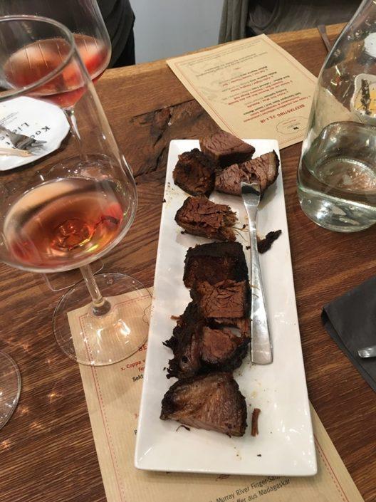 Fleisch und Wein - beeftasting die meenzer Muh im Edelbeef- weingut Schönhals