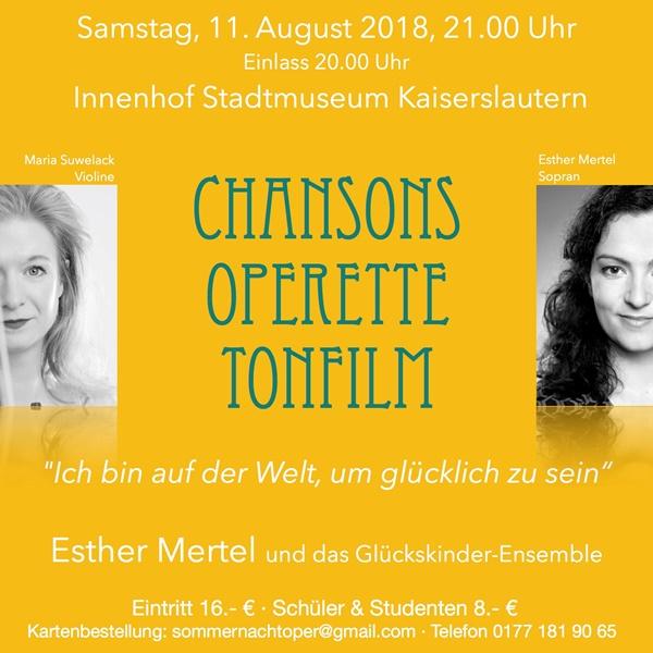 Sommernachtoper mit Schönhals-Weinen am 11. August