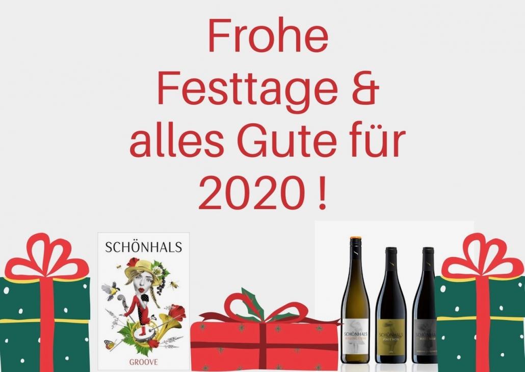 Frohe Festtage wuenscht Ihnen Ihr Weingut Schoenhals
