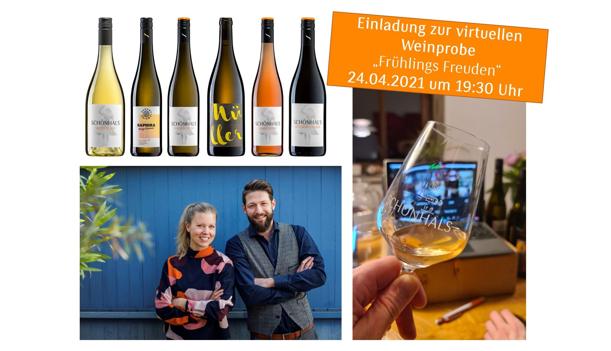Online Weinprobe Frühlings Freuden